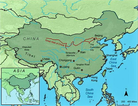 Maps   World Heritage Sites; the Great Wall of China